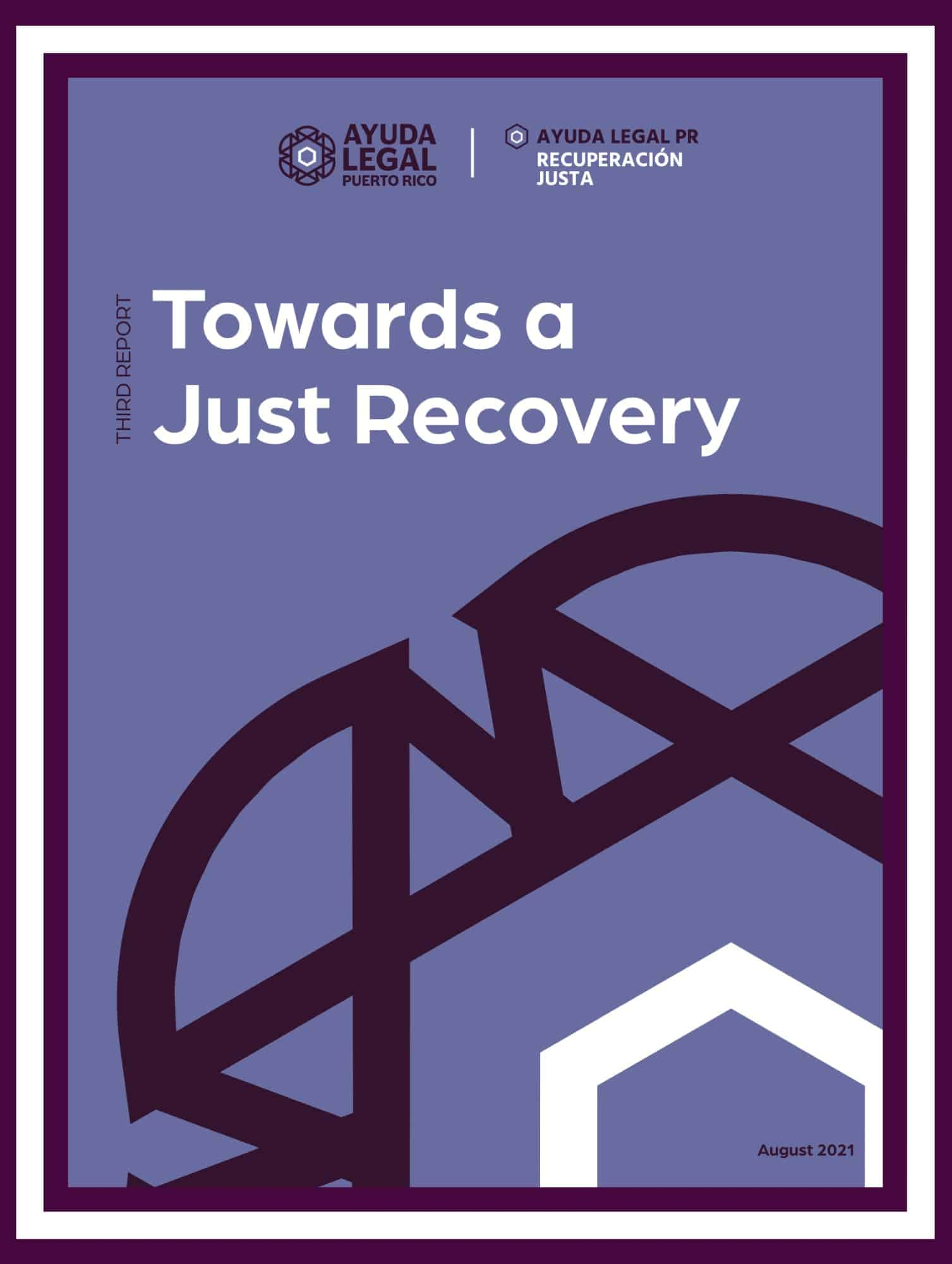 Just Recovery third report cover
